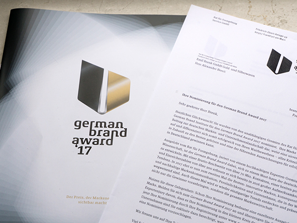 Nominierung German Brand Award 2017